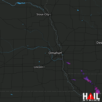 Hail Map Plattsmouth, NE 07-19-2018