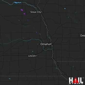 Hail Map Hooper, NE 08-02-2018