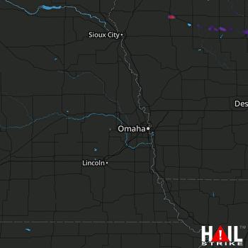 Hail Map Fort Dodge, IA 08-05-2018
