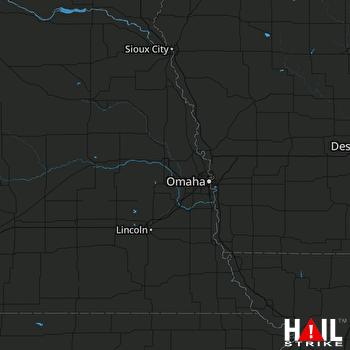 Hail Map OMAHA 08-08-2018