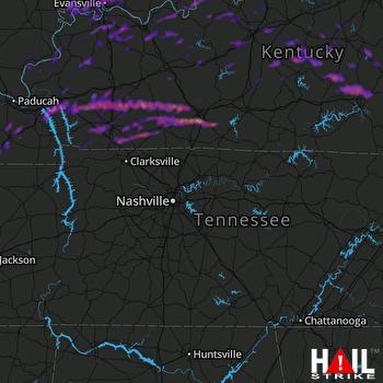 Hail Map Louisville, KY 05-29-2019