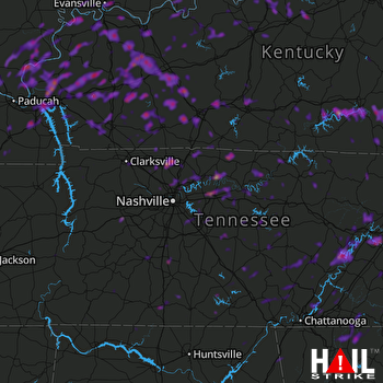 Hail Map Evansville, IN 06-22-2019