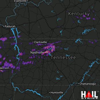 Hail Map Nashville, TN 05-03-2020