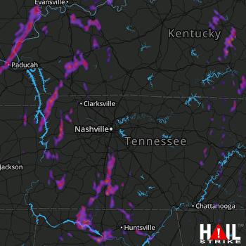 Hail Map Owensboro, KY 06-13-2021