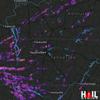 Hail Map Jackson, TN 03-27-2017