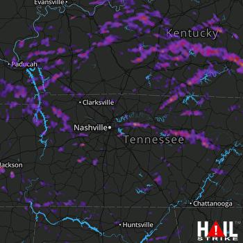 Hail Map Huntsville, AL 05-28-2017