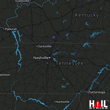 Hail Map Franklin, TN 06-18-2017