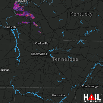 Hail Map Greenville, KY 08-19-2017
