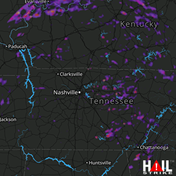 Hail Map Cookeville, TN 05-31-2018