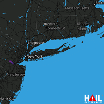 Hail Map Bridgewater, NJ 07-22-2019