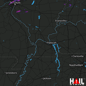 Hail Map Florissant, MO 08-17-2019