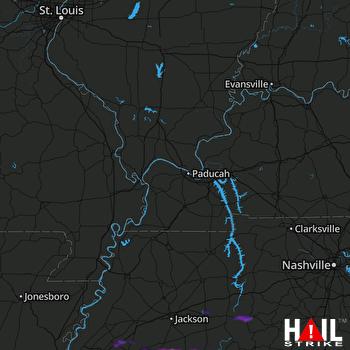 Hail Map Bolivar, TN 01-16-2020
