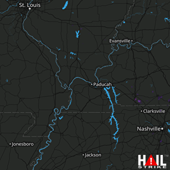 Hail Map Hopkinsville, KY 06-28-2020