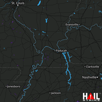 Hail Map Bardwell, KY 07-01-2020