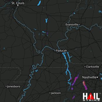 Hail Map Dickson, TN 10-07-2021