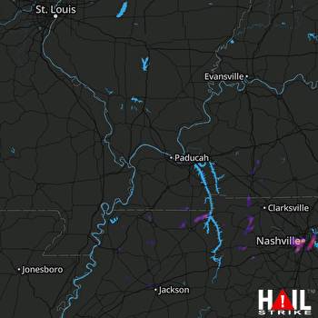 Hail Map Nashville, TN 04-18-2017