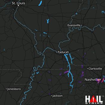 Hail Map Nashville, TN 04-18-2017