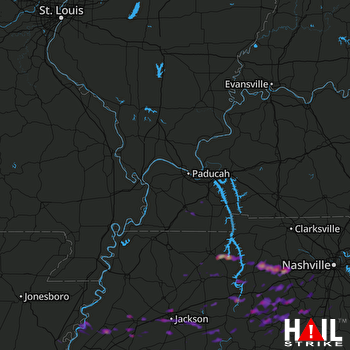 Hail Map Dickson, TN 05-30-2017