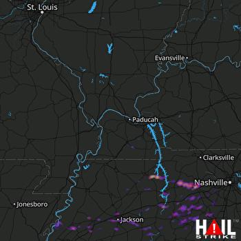 Hail Map Dickson, TN 05-30-2017