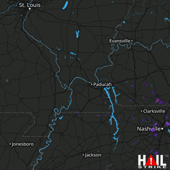 Hail Map Hendersonville, TN 07-02-2017