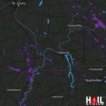 Hail Map Jackson, MO 07-08-2017
