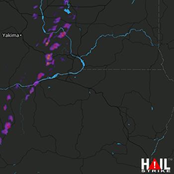 Hail Map Grandview, WA 05-05-2017