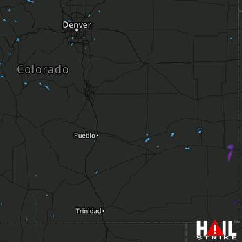 Hail Map Holly, CO 08-19-2019