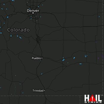 Hail Map PUEBLO 05-25-2018