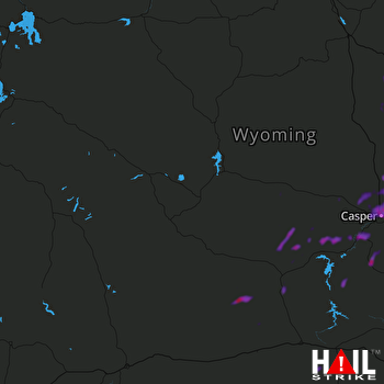 Hail Map Casper, WY 07-30-2021