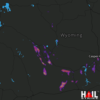 Hail Map Casper, WY 05-27-2018