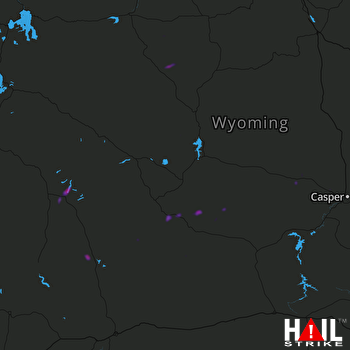 Hail Map Pinedale, WY 07-11-2018