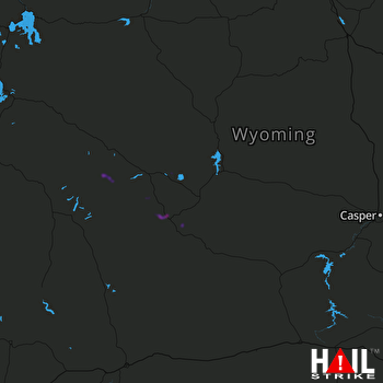 Hail Map Lander, WY 07-17-2018
