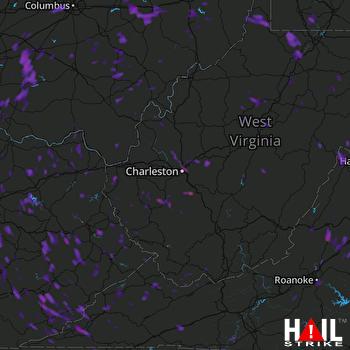 Hail Map Zanesville, OH 06-13-2017