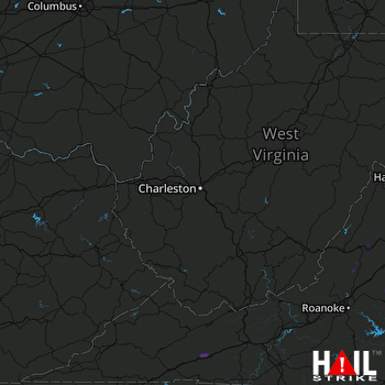 Hail Map Big Island, VA 06-19-2017