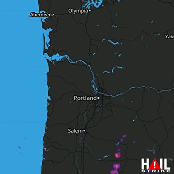 Hail Map Oakridge, OR 09-07-2017