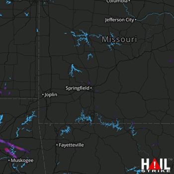 Hail Map Wagoner, OK 06-19-2019
