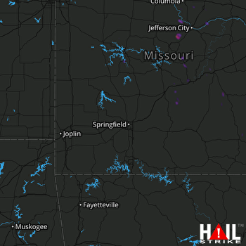Hail Map Russellville, MO 04-24-2020