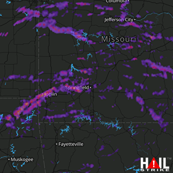 Hail Map Joplin, MO 05-27-2017
