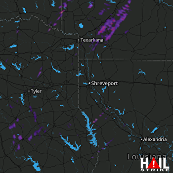 Hail Map Hope, AR 04-18-2019