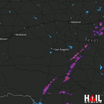 Hail Map Stephenville, TX 05-11-2021