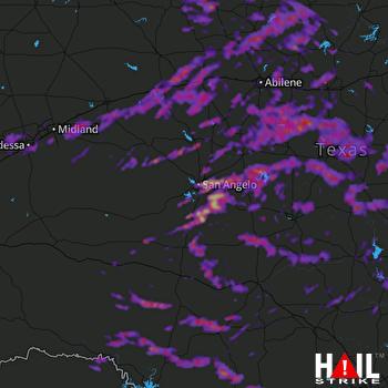 Hail Map Odessa, TX 05-19-2017