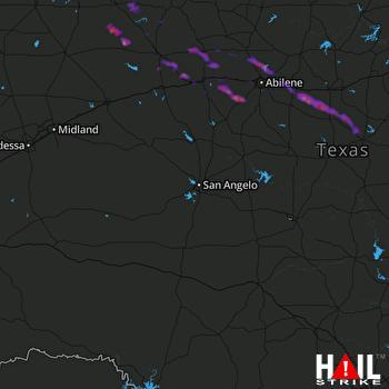Hail Map Hawley, TX 05-23-2017