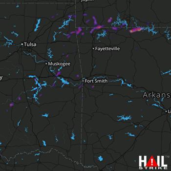 Hail Map Clarksville, AR 05-03-2019
