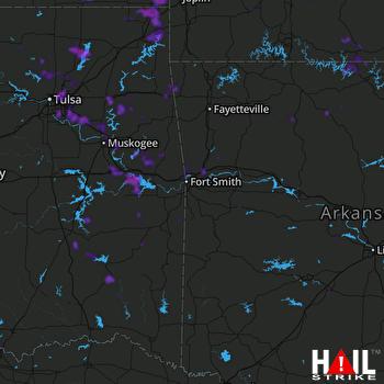 Hail Map Broken Arrow, OK 08-27-2019