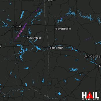 Hail Map Coweta, OK 11-30-2019