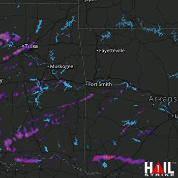 Hail Map Tulsa, OK 04-22-2020