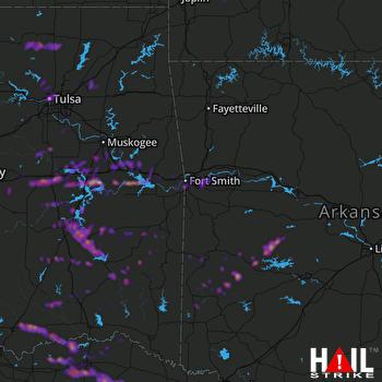 Hail Map Paris, TX 04-25-2020