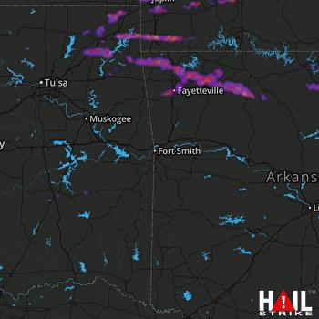 Hail Map Fayetteville, AR 05-04-2020