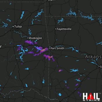 Hail Map Sallisaw, OK 05-15-2020