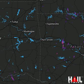 Hail Map Atkins, AR 05-27-2020